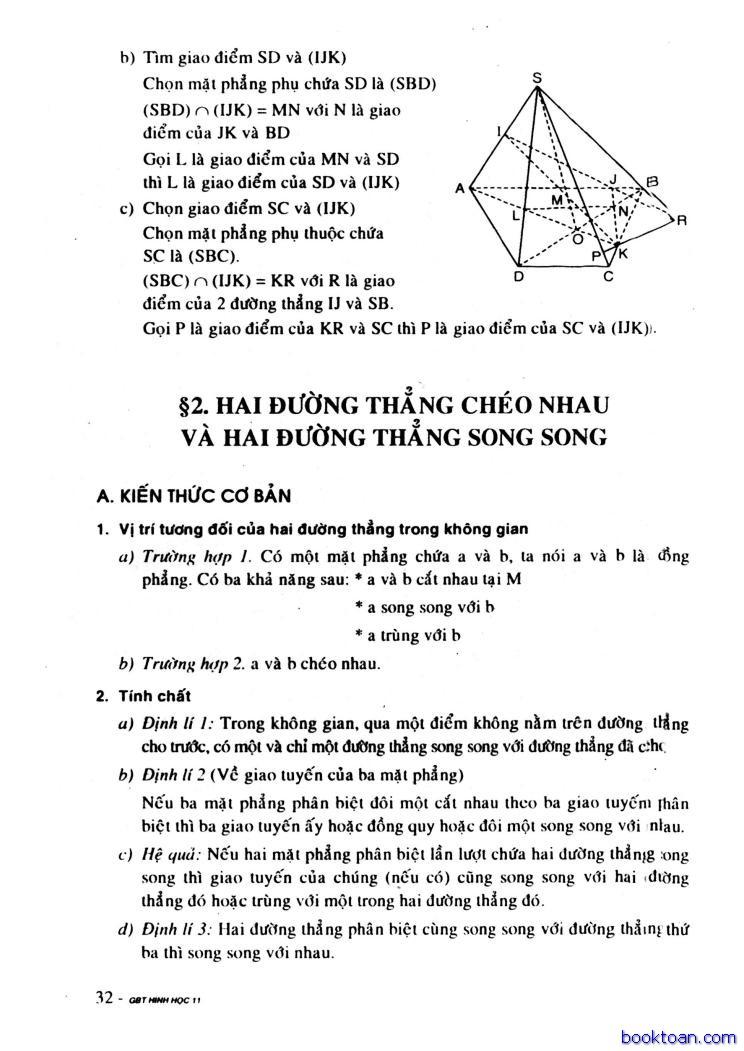 GIAI BAI TAP HINH HOC 11 CB